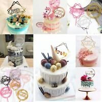 Home Love Happy Birthday Cake Topper Card Acrylic Party Decoration Supplies~