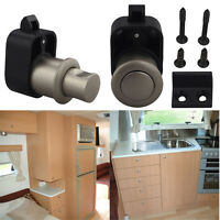 Chrome Caravan Latch Boat Cabinet Cupboard Drawer Locks Motorhome Push Knob Lock
