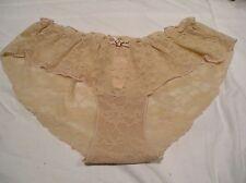 NWT Victoria's Secret 'ANGELS' M Tan Stretchy Mesh Lace Bikini Panty