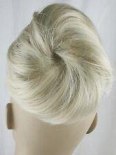 light blonde fake pony tail bun elastic string hair piece extension scrunchie
