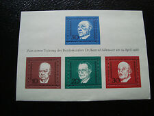 ALLEMAGNE RFA - timbre - Yvert et Tellier bloc n° 3 n* (A1) stamp germany