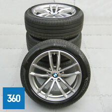 "GENUINE BMW 5 SERIES G30 G31 18"" 662 M SPORT 5 DOUBLE SPOKE ALLOY WHEELS TYRES"
