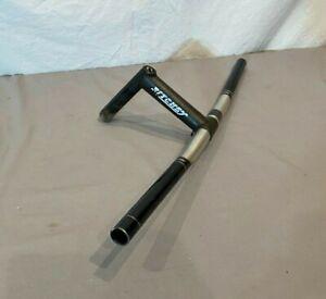 Vintage 1980s Ritchey FD-6061 T6 565mm Aluminum Flat Bar w/130mm Quill Stem