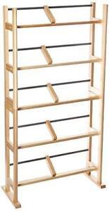 Atlantic Element Media Storage Rack Holds  230 Cds or 150 Dvds Maple Wood  Metal