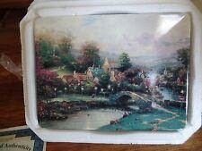 "Thomas Kinkade's Limited Edition ""Lamplight County"" Rectangular Plate"