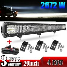 29inch 2672W LED Work Light Bar Combo Driving Offroad Bumper Lamp Truck PK 30/32