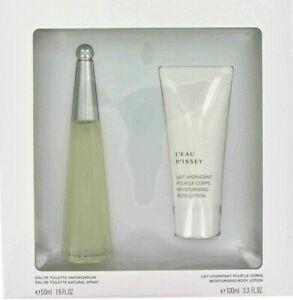 Issey Miyake L'eau D'issey 2pc Set 50ml EDT + 100ml Body Cream Genuine Perfume