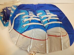 """JOB LOT 7 X 21"""" FOIL BALLOONS - NEW - HELIUM OR AIR - NEW BABY BOY SNEAKERS"""