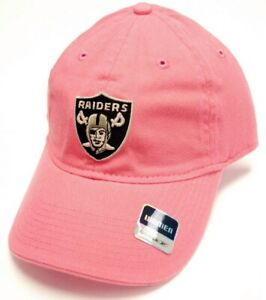 Oakland Raiders NFL Reebok Pink Relaxed Slouch Hat Cap Adult Women's Adjustable