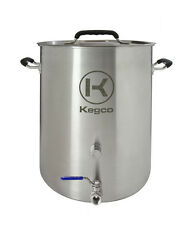 Kegco 8 Gallon Brew Kettle with Plug and 2-Piece Ball Valve