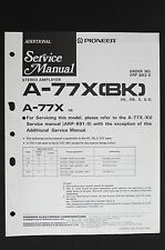 Pioneer A-77X (Bk) A-77X Hey Original Amplifier Additional Service Manual o115