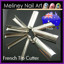 Q French tip cutter Acrylic Nail C Curve Tool Smile Line Single Tip Edge Metal