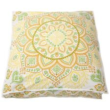 Indian 35'' Square Mandala Cushion Cover Decorative Vintage Throw Pillow