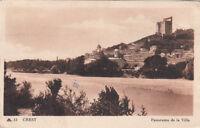 CREST 15 panorama de la ville timbrée 1947