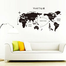 World Map Removable Travel Vinyl Art Wall Sticker Room Decal Mural Home Decor