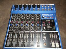 SAMSON MDR8 8 Channel Audio Mixer with AC Adapter Very Slightly Used