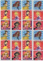 Disney Princess 24 Large Stickers! Love & Valentines Ariel Cinderella Belle
