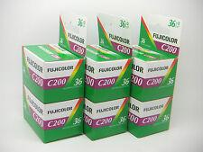 6x Fuji Fujicolor C200 35mm 36exp Barata impresión a color película de primera clase Royal Mail