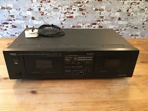 YAMAHA KX-W162 CASSETTE DECK DOUBLE PLAYER TESTED 100%