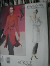 Vogue Sewing Pattern 2180 12-14-16 Coat Pattern Yves Saint Laurent