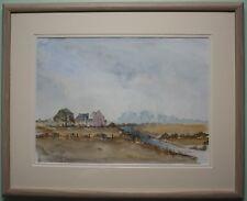 Original Watercolour Painting AUTUMN DAY AT AN IRISH FARM by Artist HARRY REID