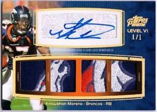 KNOWSHON MORENO 2011 Topps Prime Level VI Six Patch Auto Card 1/1 Holofoil Gold