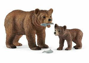 Schleich - Grizzly Bear Mother with Cub SC42473