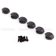 BRAND NEW (6) Buttons for Gotoh Tuners Mini Sealed Schaller Style - BLACK #07