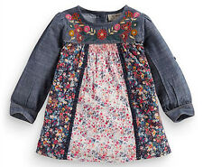 ВNWT NEXT T-Shirt Top • Embroidered Ditsy Mix Tunic • 100% cotton • 3-4 Years