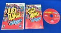 Just Dance Disney Party Official (Nintendo Wii 2012) COMPLETE w/ MANUAL - TESTED