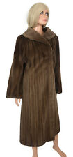Luxurious SHEARED MINK COAT Brown Full Length Custom Fur A. Tsagus Denver szL/XL