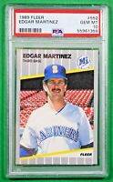 1989 FLEER #552 EDGAR MARTINEZ PSA 10 🏦 Hall of Fame