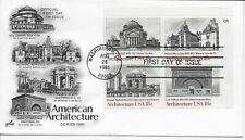 US Scott #1928-31, First Day Cover 8/28/81 Washington Plate Block Architecture
