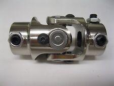 "9/16-26 Spline x 3/4"" DD Ford Manual Stainless Steering U Joint Rat Street Rod"