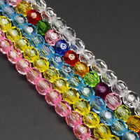 Wholesale 50pcs Colorful Crystal Loose Beads DIY Bracelet Jewelry Making 6mm