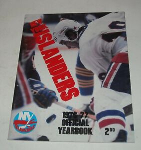 NEW YORK ISLANDERS 1976 - 1977 OFFICIAL YEARBOOK NHL HOCKEY with PHOTOS