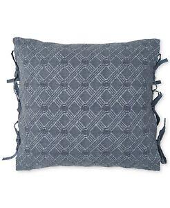 """Croscill Home 18"""" Square Decorative Pillow Lucine Cotton BLUE 396"""