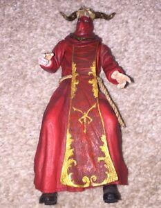"""Los Illuminados Plagas Ganado Red Goat Skull Monk Resident Evil 4 7"""" NECA Figure"""