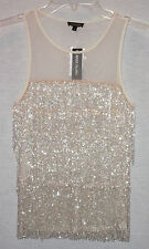 RIVER ISLAND LADIES LIGHT PINK HEAVILY LAYERED BEADED TOP SIZE 2  NEW WITH TAGS