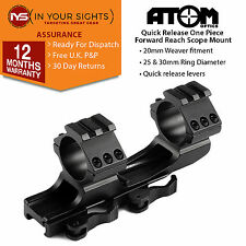 Quick release forward reach 1 piece weaver rifle scope mount suit 25+30mm scope