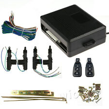 Car Auto Entry Central 4 Door Keyless Locking System Box Kit + 2 Remote Controls