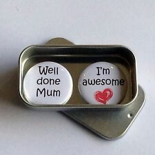 Mothers Day Card Alternative, Well Done Mum, I'm Awesome Magnet Gift Set