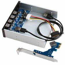 """PCI Express USB 3.0 PCI-E Card Adapter 5.25"""" Front Panel Expansion Bay 4 Ports"""