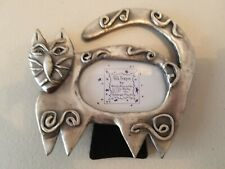 Folk Ashleigh Manor Frame By Ruth Reynolds Darby Pewter Cat Picture Frame 1997