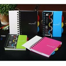 A6/A5/B5 Spiral Coil Plastic Cover Notebook Diary Journal School NotePad Book #Y