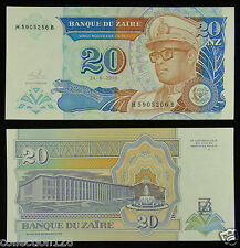 Zaire Paper Money 20 Zaires 1993 UNC