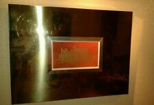 VINTAGE HARRIS STRONG MID CENTURY *Golden City* SIGNED PRINT -GOLD MIRROR FRAME