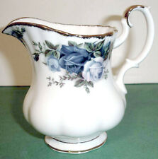 Royal Albert Moonlight Rose Creamer Blue Roses Gold Trim New!