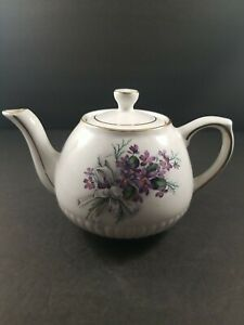 Ellgreave Wood And Sons Violets Bouquet Teapot