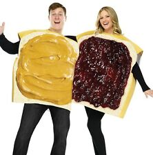 Adult Couples Funny Humorous Peanut Butter & Jelly Sandwich Costume - Fast Ship